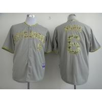China Pittsburgh Pirates 6 Starling Marte Grey 2013 USMC Cool Base Camo Number Jersey wholesale