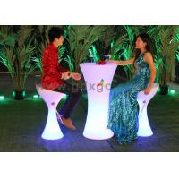 China PE Glowing Fashionable LED Bar Glow Chair With 16 colors changeable wholesale