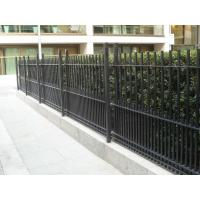 China Powder Coated RAL 9001/Black Vertical Bar Fence on sale