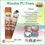 China 750ml Expanding Spray Foam Insulation / PU Waterproof Foam SealantFor Mounting wholesale
