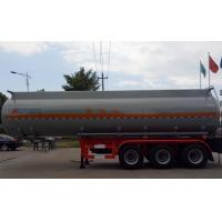 China 37m3 Oil Tank Truck For Anti - Corrossive Sodium Hydroxide Sulfuric Acid Nitric Acid wholesale