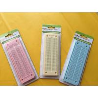 China 550 Point Round Hole Breadboard Colorful Circuit Board 15×5.3×0.85 cm wholesale