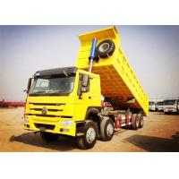 China 8×4 371HP Heavy Duty Dump Truck 32 Tons Load 30CBM Dump Box White Red Yellow Color wholesale