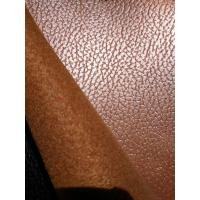 China Tabacco Synthetic Aux Cowhide Upholstery Fabric With Breathable Effect wholesale