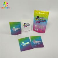 China Transparent Window Snack Bag Packaging Hologram Laser Stand Up Bags Pouch High Barrier wholesale