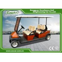 China EXCAR Club Car Electric Golf Buggy cart Brown Red For 4 And 2 Passenger on sale