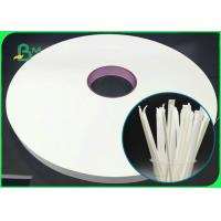 China 100% Eco - Friendly 28mm 31mm 39mm Straw Wrapping Paper 28GSM For Straws Packaging on sale