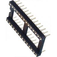 China IC Socket 2*14P DIP Round Pin Header 2.54mm Row of Pitch 10.16 for PCB board wholesale
