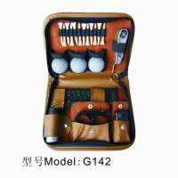 China G142 Cheapest Golf Accessories Gift Set ,The Masters Gift Set,Golf Gift Set With Leather Bag wholesale
