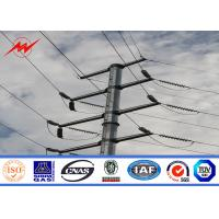 China 11kv to 69kv Galvanized Utility Power Poles For Overhead Electrical Transmission Line Project with Bitumen wholesale