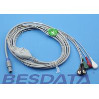 China 1.5m Creative Compatible ECG Cables And Leadwires Snap Sensor Type wholesale