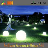 Buy cheap garden decoration LED plastic light balls outdoor events balls 16 colors from wholesalers