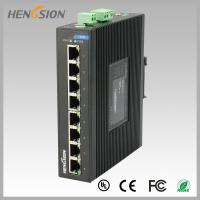 China 8 Port  RJ45 unmanaged full Managed Gigabit Ethernet Switch , industrial Din rail switch wholesale
