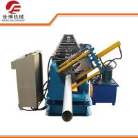 China Seamless Round Gutter Downspout Roll Forming Machine / Steel Pipe Making Machine wholesale
