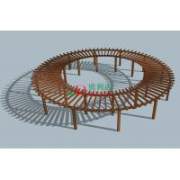 China Prefabricated Composite Round Prefab Pergola Kits , Recyclable 100% Large Pergola Kits wholesale