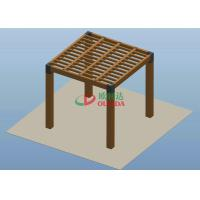China Square Wood Plastic Composite Pergola High Grade UV Resistance 2.7m * 2.7m * 2.7m wholesale