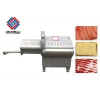China Inclined Feed Port Beef Steak Rib Chopper Machine / Frozen Meat Slicer Cutter wholesale