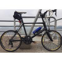 China 7-tiger carbon road mini bike 20 inch frame bmx road bicycle 451 frame 480 mm size 3k weave gloss   BSA bb wholesale