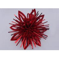 China Red Shinny PET Self - adhesive Fancy Bows for hair , Pre made Gift Flower Ribbon Bow wholesale