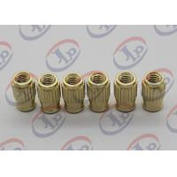 China Small Machine Parts Plastic Insert Parts Brass Nuts With Blind Via Hole wholesale
