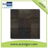 China Wood mosaic tile-interior wall decoration wood mosaic tiles wholesale