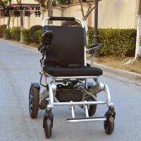 China Light Weight Aluminum Alloy Electric Folding Wheelchair For Travelling wholesale