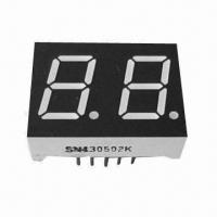 """China 7 Segment Numeric LED Display, 0.52"""", Dual-digit, Red/Yellow/Green/Blue/White/Amber wholesale"""