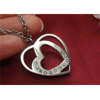 China Unique Stainless Steel Pendant Necklace , Double Heart Pendant Necklace For Couple wholesale