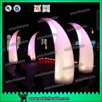 China 3M Romantic Wedding Event Entrance Inflatable White Lighting Inflatable Tusks wholesale