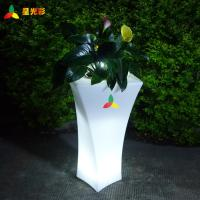 China Outdoor Furniture Iiluminated Rotomolding Plant Pots wholesale