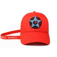 China ACE Headwear new arrival design red 6panel 3d Embroidery Star baseball caps hats wholesale