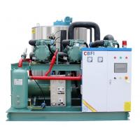 China 20 Tons Per Day Flake Ice Machine For Concrete Cooling PLC Controlling System wholesale