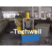 China PLC Frequency Control Steel Hat Channel Cold Roll Forming Machine With 0-15m/min Forming Speed wholesale