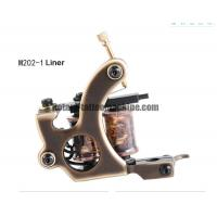 China Brass Custom Tattoo Machine Liner Shader , 8 Wraps High End Tattoo Gun For Liner Tattooing wholesale