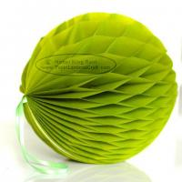 Buy cheap Aloe Tissue Paper Honeycomb Balls Pom Poms With Loop For Hanging from wholesalers