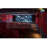 China Popular 3D Cinema System With Red Comfortable Seats And Latest 3D Films wholesale