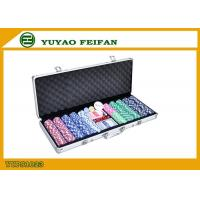 High Value Beautiful 500 Piece Poker Chips Sets For Gambling / Home