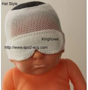 China Hat Style Neonatal Phototherapy Eye Mask L S M Size Soft Touch Single Use wholesale