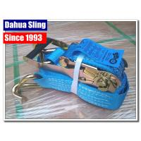 China 5000kg Working Load Cargo Tie Down Straps , Commercial E Track Ratchet Straps wholesale