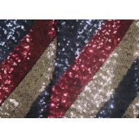China Multi - Color Embroidered Shiny Sequin Fabric Azo Free For Evening Dress wholesale
