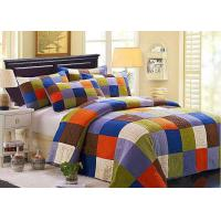 China Hand Sewing Colorful Patchwork Twin Size Bed Sets 4 Pcs Machine Wash wholesale