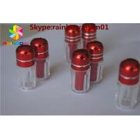 China empty capsule bottle with cap 12mm for sale with metal cap small sex pills bottle with aliminum foil cap  capsule shape wholesale