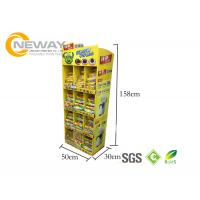 China Oreo Cookies Paper Cardboard Shelving Displays , Retail Display Racks wholesale