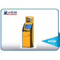 China 300 Cd/m2 Self Service Check In Kiosk Capactive LED touch screen with Receipt wholesale