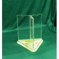 China Free Standing Acrylic Menu Holder A4 Size 3 Sided Display Stand wholesale