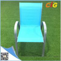 China Low price stackable sling chair popular colorful reclining beach garden chair,comfortable indoor outdoor leisure lounger wholesale