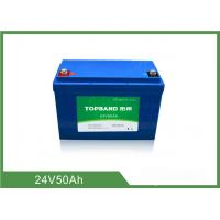 China 2000 Cycles Life Electric Forklift Battery 24V 50Ah wholesale