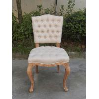 French Furniture Button Tufted Dining Chairs, Oak Wood Dining Chair, Tufted Dining Room Chairs