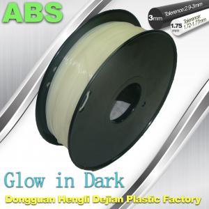 China Markerbot , RepRap Glow in The Dark 3d Printer Filament  , 3D Printing Filament ABS wholesale