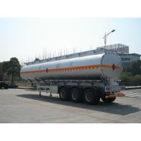 China 3x12T BPW axle 46000L Aluminum Alloy Petroleum Mobile Fuel Tank Trailer wholesale